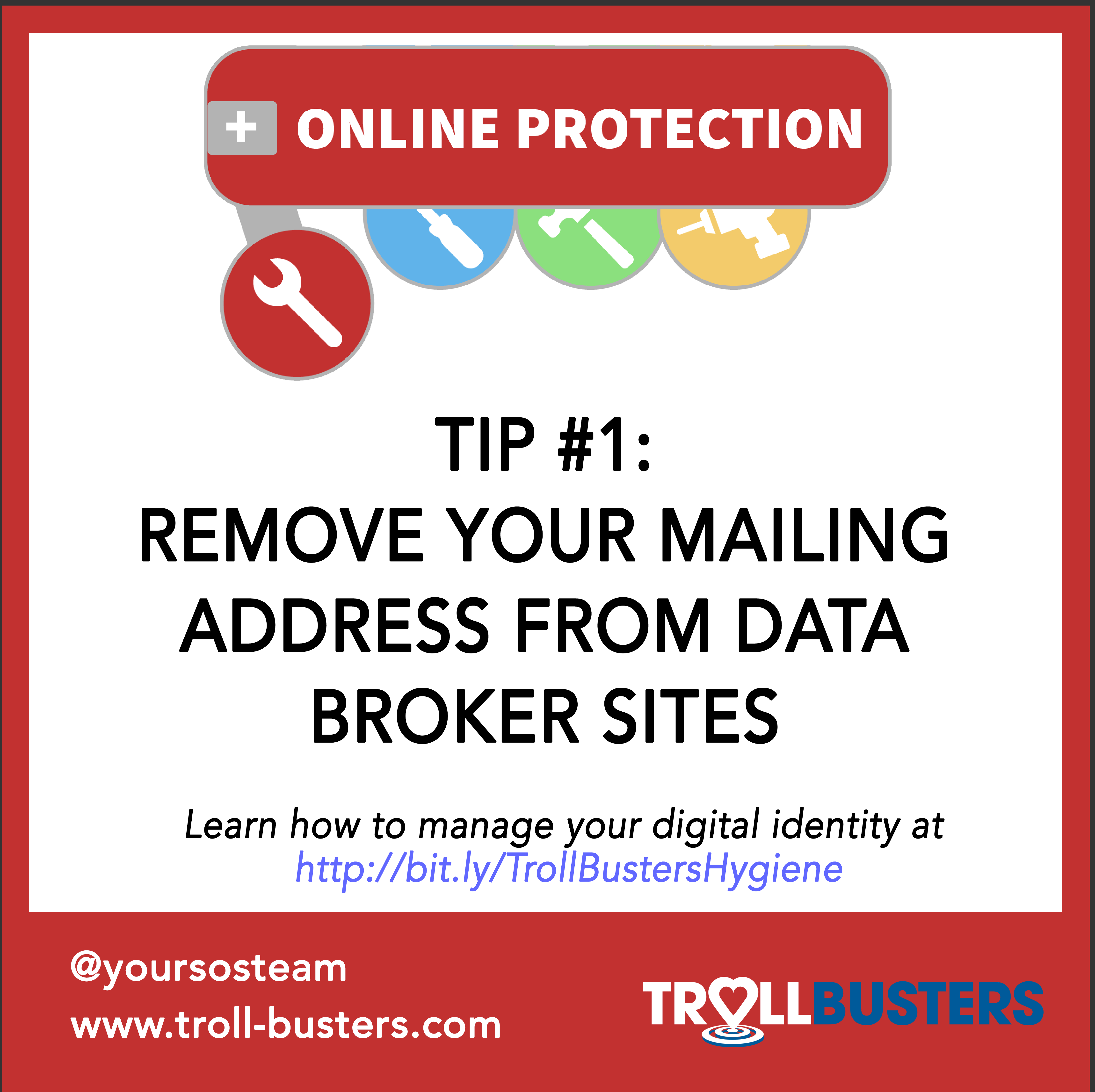 Remove your mailing address from data broker sites